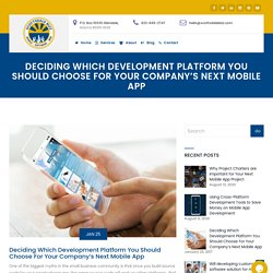 Which Development Platform You Should Choose For Your Company's Next Mobile App
