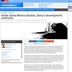 Inside Santa Monica Studios, Sony's development commune