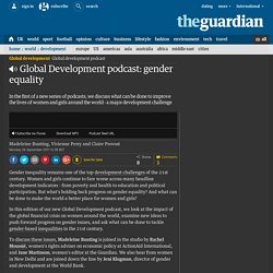 Podcast: gender equality and global development