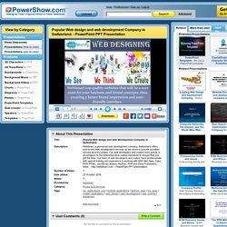 Popular Web design and web development Company in Switzerland. PowerPoint presentation