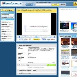 Lean Software Development PowerPoint presentation