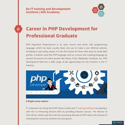 Learn PHP Development Course to Get More Career Options