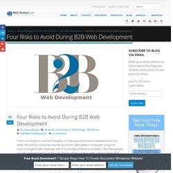 Four Risks to Avoid During B2B Web Development - Nick Throlson Professional Word Press Web Designer