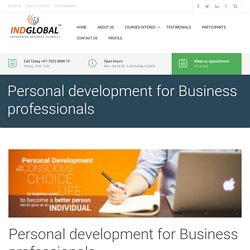 Personal development for Business professionals