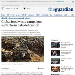 Global food waste campaigns suffer from data deficiency