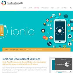 Ionic App Development Company India, USA, Hire Top Ionic Developer/Programmers