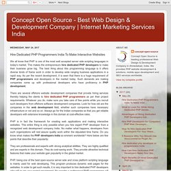 Hire Dedicated PHP Programmers India To Make Interactive Websites
