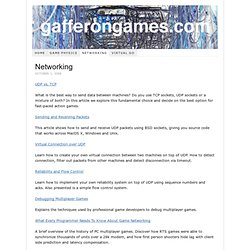 Game Development Tutorials – Networking for Game Programmers