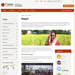 Aid and Development Programs in Nepal - Caritas Australia End Poverty Promote Justice Uphold Dignity