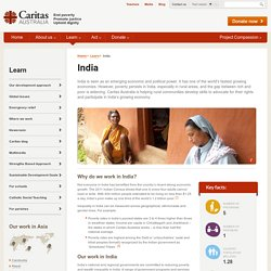 Aid and Development Programs in India - Caritas Australia End Poverty Promote Justice Uphold Dignity