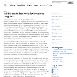Wildly useful free Web development programs