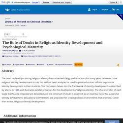 Development of identity in religious domain