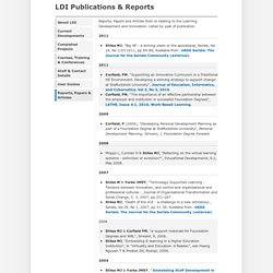 Learning Development and Innovation Publications & Reports
