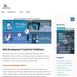 Web Development Trends for Publishers