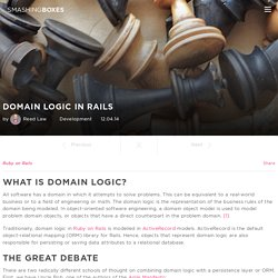 Domain Logic in Rails