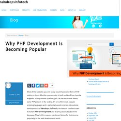 Why PHP Development Is Becoming Popular - raindropsinfotech