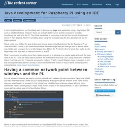 Java development for Raspberry PI using an IDE
