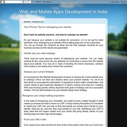 Web and Mobile Apps Development in India: Top 4 Proven Tips for redesigning your website