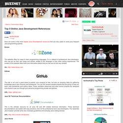 Top 5 Online Java Development References on technohub's Blog - Buzznet