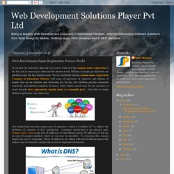 Web Development Solutions Player Pvt Ltd: How does Domain Name Registration Process Work?