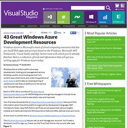 43 Great Windows Azure Development Resources