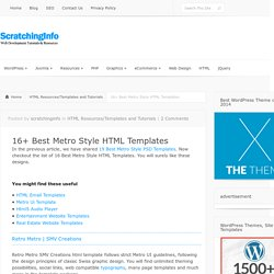 Top 15+ Best Metro Style HTML Templates