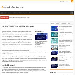 Top 10 software development companies in USA – SearchContent