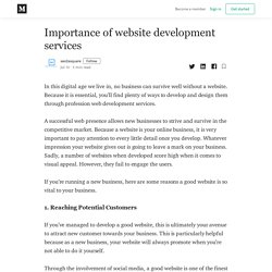 Importance of website development services