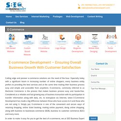 E-Commerce Web Site Design & Development Services India - SEOBusinessExpert