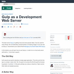 Gulp as a Development Web Server