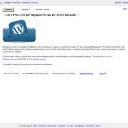 Word Press web Development Service for Better Business!