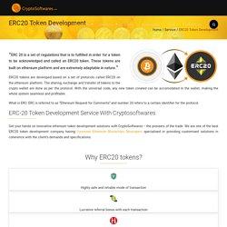 ERC20 Token Development Service- Create your own ERC20 tokens