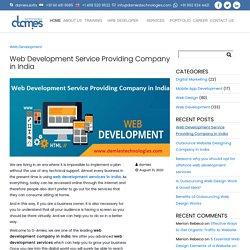 Web Development Service Providing Company in India
