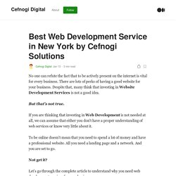 Best Web Development Service in New York by Cefnogi Solutions