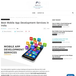 Best Mobile App Development Services in India