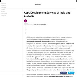 Apps Development Services of India and Australia