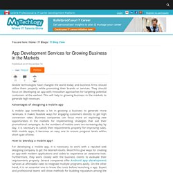 App Development Services for Growing Business in the Markets