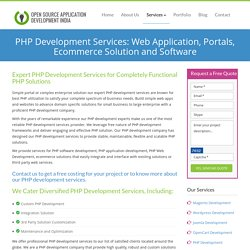 PHP Development Services: Custom PHP Web Development Company