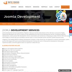 Best Joomla Web Development Services Company India