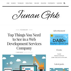 Top Things You Need to See in a Web Development Services Company – Junan Ghk