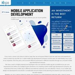App development company: Android, iOS.