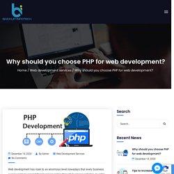 PHP web development services - Web development company