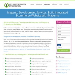 Magento Development Services: Magento Ecommerce Web Development Company