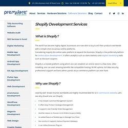 Shopify Development Services Company: Shopify Ecommerce Website, Shopify Shops SEO