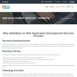 web Development Services - eWebByte