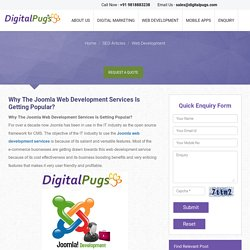 Why the joomla web development services is getting popular