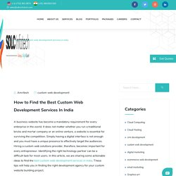 Best custom web development services in India