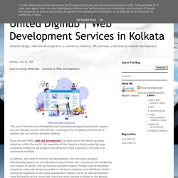 Web Development Services in Kolkata: Easy-to-setup Websites - Outsource Web Development