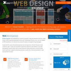 Web Development Company – Xtreem Solution
