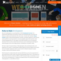 Ruby on Rails Development Services – Xtreem Solution